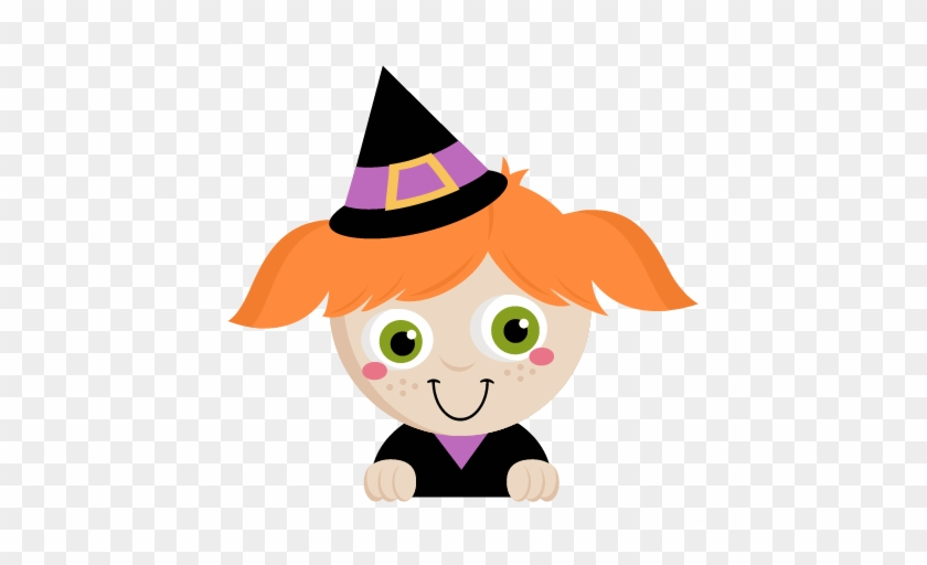 Peeking Witch Svg Scrapbook Title Svg Cutting Files - Cute Halloween Witch Png #172023