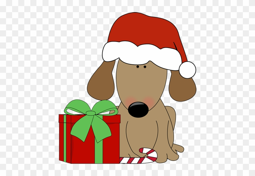 Candy Clipart Funny - Dog Christmas Clip Art #172063