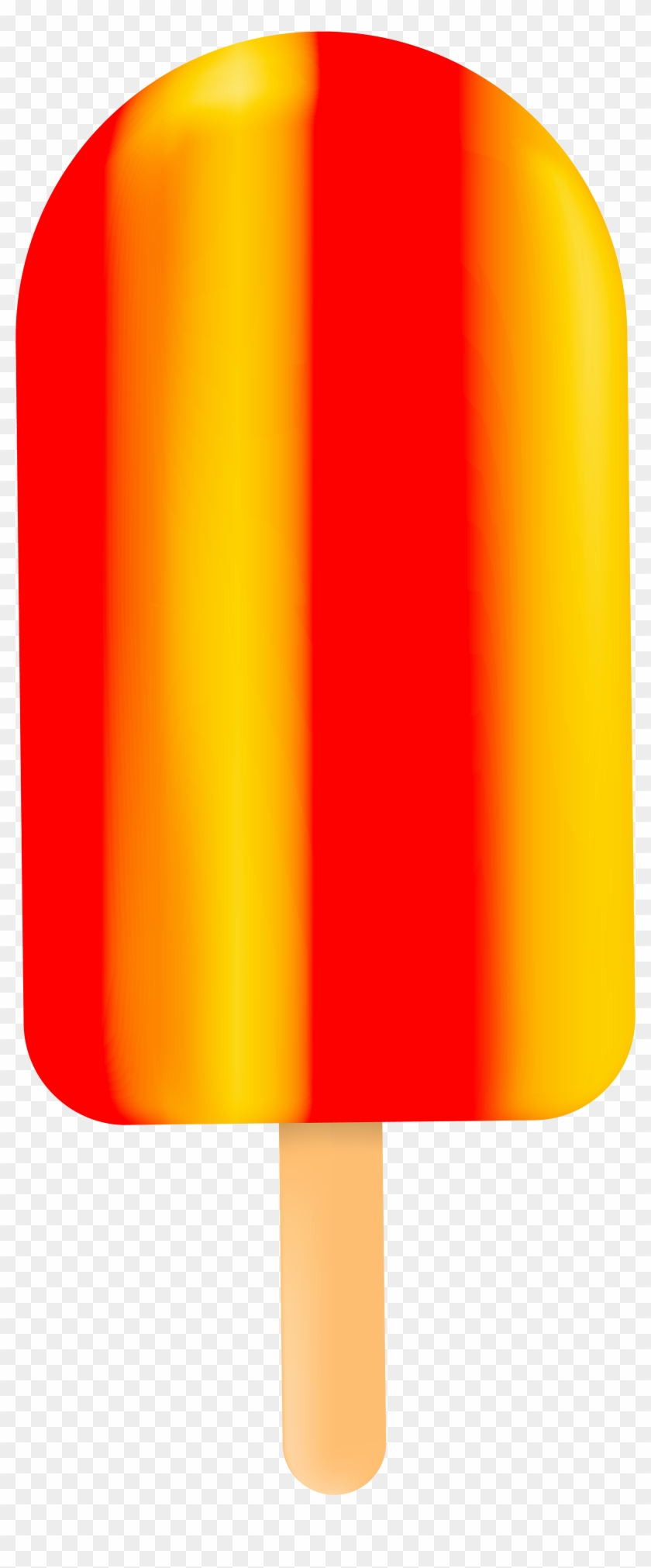 Ice Cream Bar Red Yellow Png Clip Art - Red And Yellow Ice Cream #172076