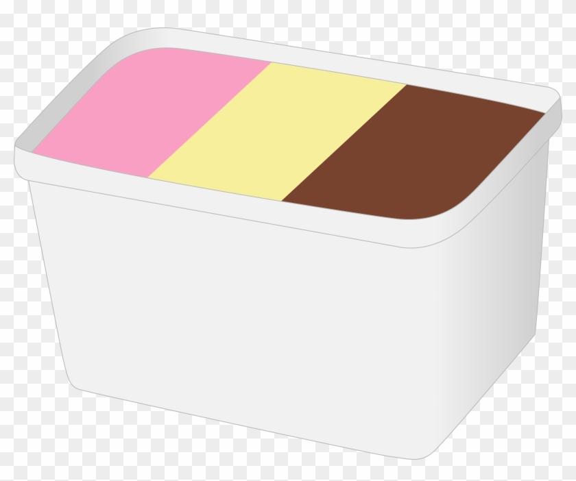 Ice Cream Box - Ice Cream Tub Clipart #172093