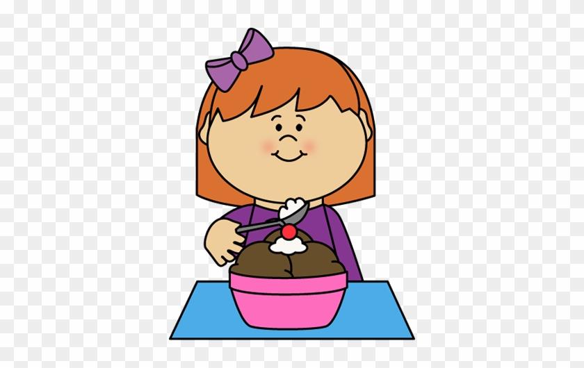 Clipart Of A Girl Eating Ice Cream Clip Art Images - Eating Ice Cream Clipart #172106