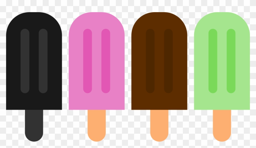 Popsicle Clipart Double - Popsicle Vector #172167