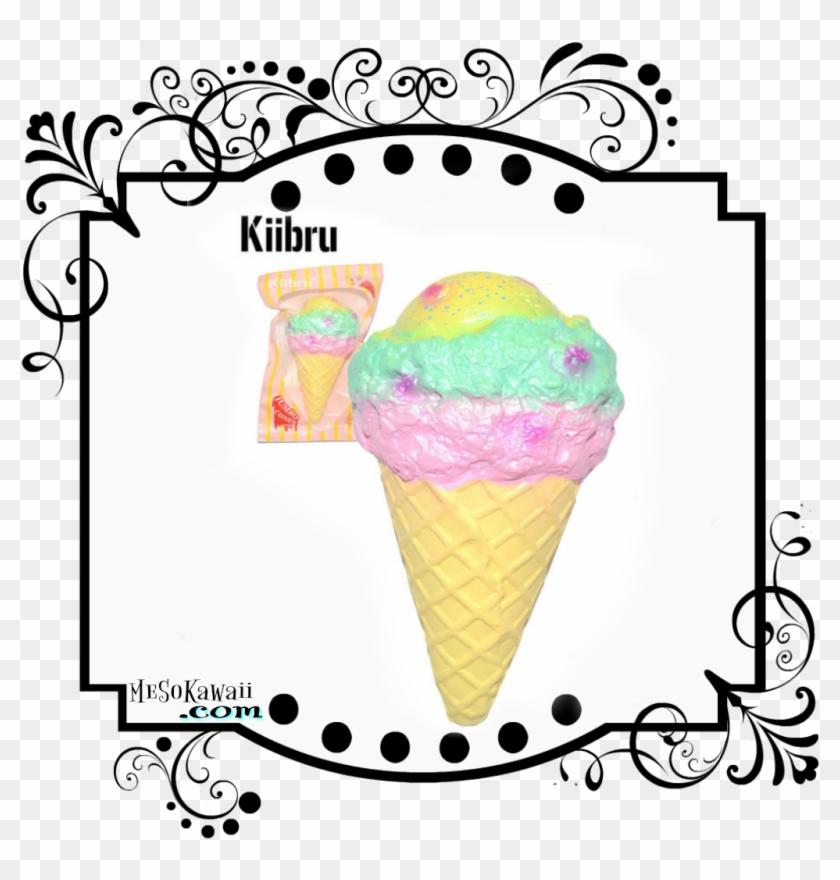 Kiibru Jumbo Pastel Ice Cream Squishy - Puni Animal Donut Squishy #172270
