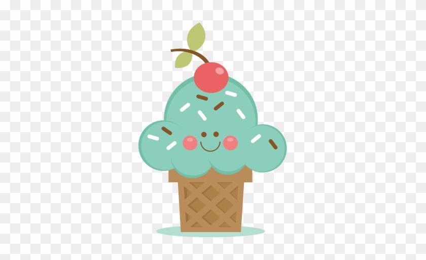 Ice Cream Cone Svg Scrapbook Cut File Cute Clipart - Happy Ice Cream Clipart Png #172309