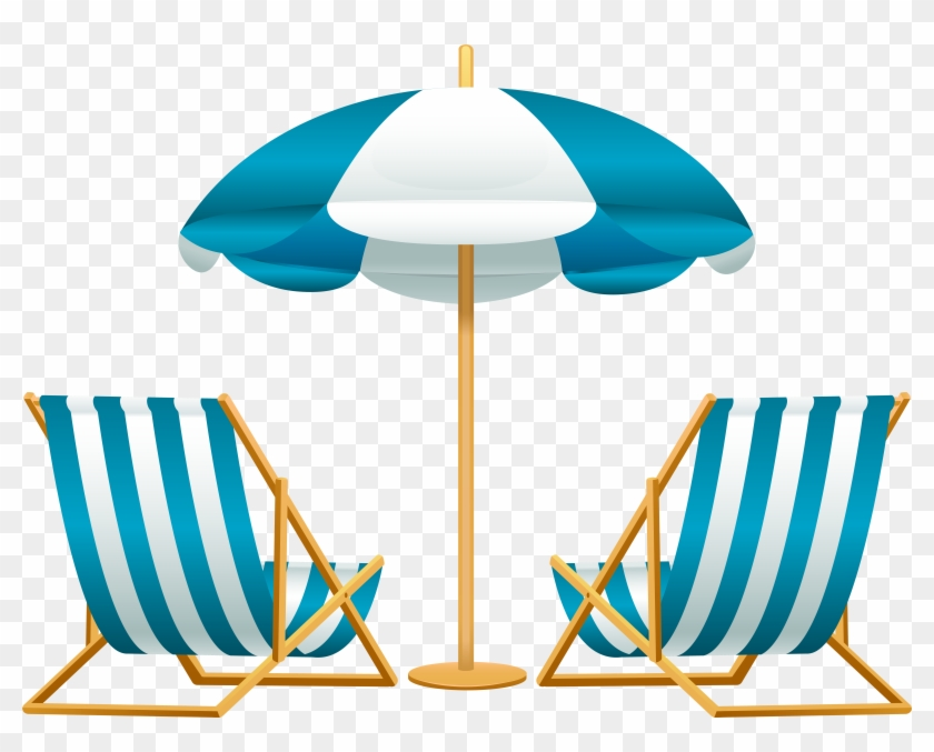 Beach Umbrella With Chairs Free Png Clip Art Image Chair And Clipart