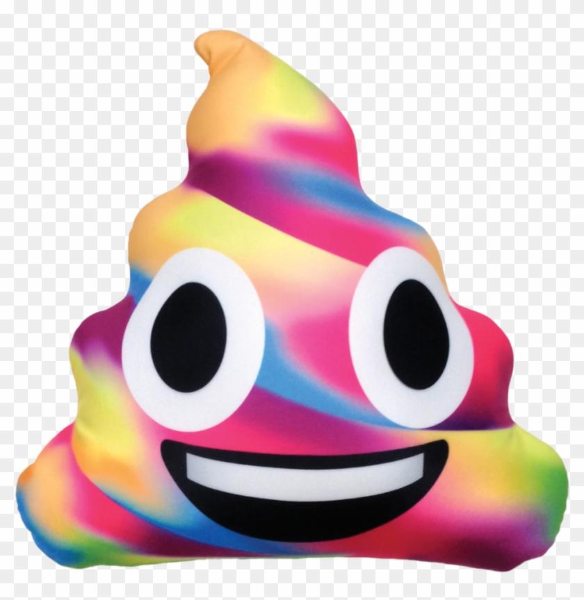 Picture Of Rainbow Poop Emoji Microbead Pillow - Rainbow Poo Emoji Pillow #172493