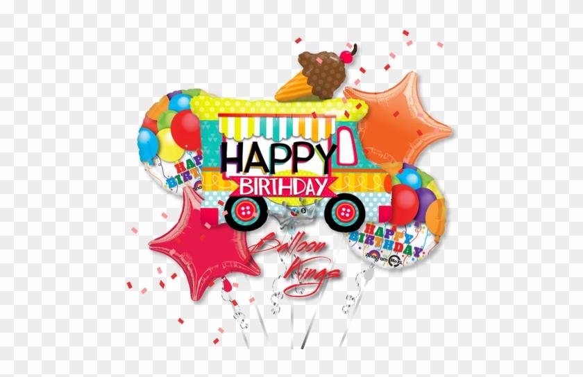 Happy Birthday Ice Cream Truck Bouquet - Happy Birthday Food Truck #172828