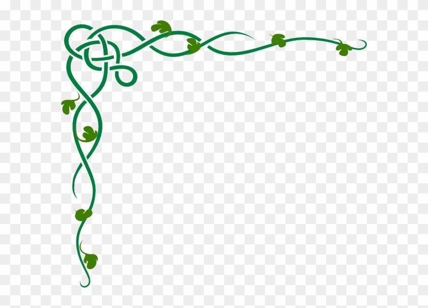 Parkers Celtic Corner Clip Art At Clker Com Vector - Vines Border #173019