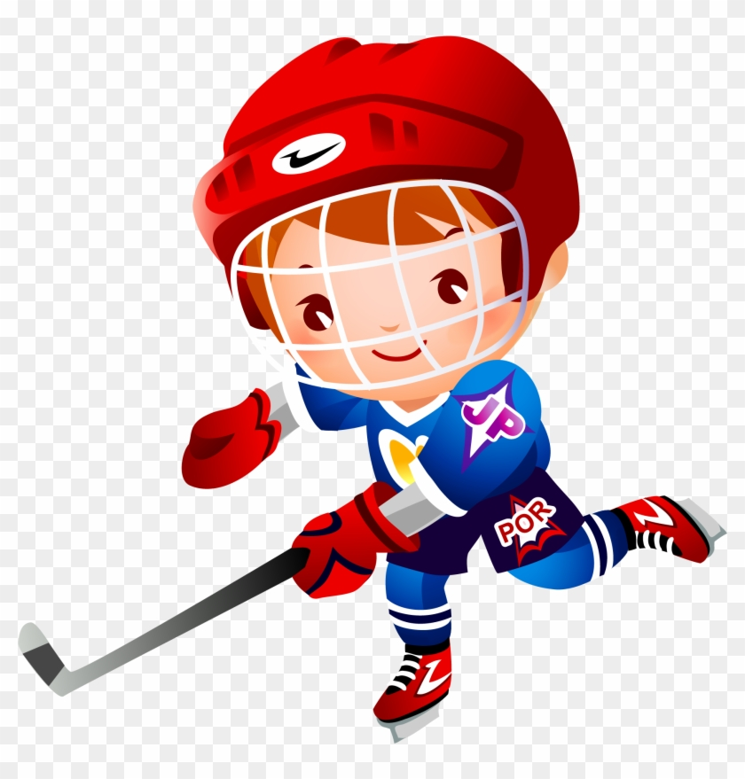 Ice Hockey Stick Cartoon Clip Art - Cartoon Girl Playing Hockey #173152