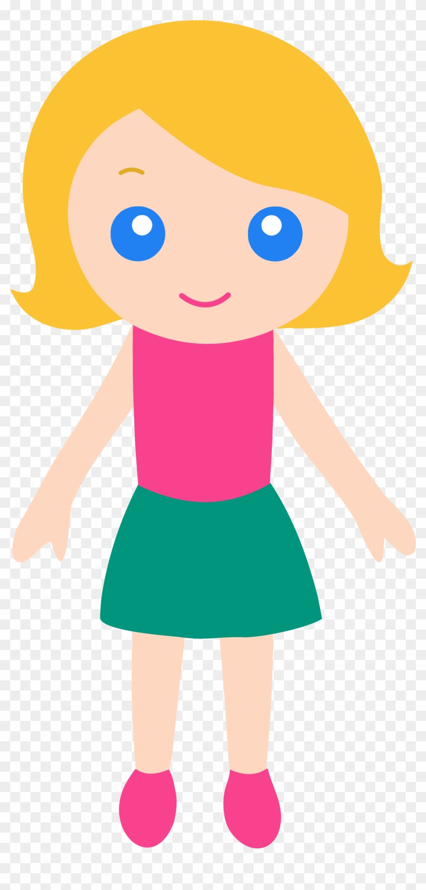 Little girl clipart free clipartxtras cartoon girl with blonde hair and blue eyes 173235