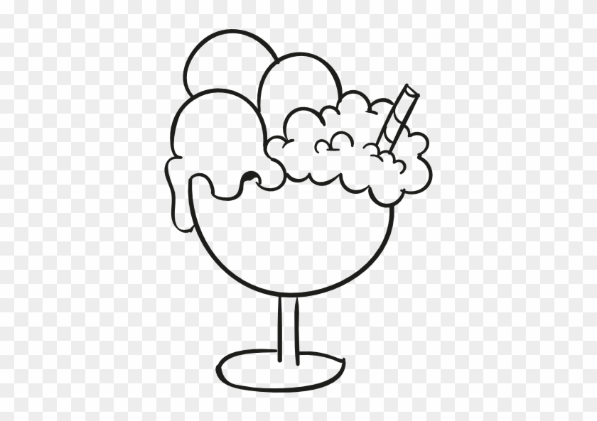 Ice Cream Cup Doodle Free Icon - Ice Cream Cup Logo #173487