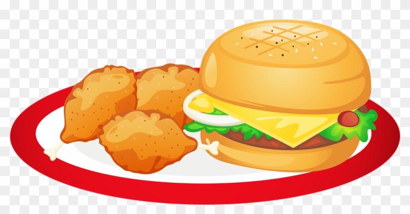 Sandwich Clipart Food Platter - Junk Food Clipart Png #173553