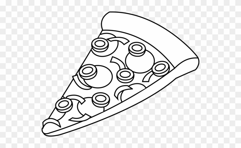 Combo - Clipart - Slice Of Pizza Black And White #173567