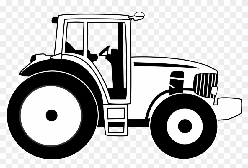 John Deere Tractor Clip Art Clipart - Tractor Black And White #173649