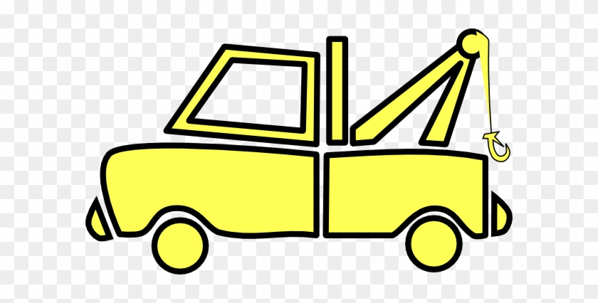 Ford Pickup Truck Clipart - Yellow Tow Truck Clip Art #173660