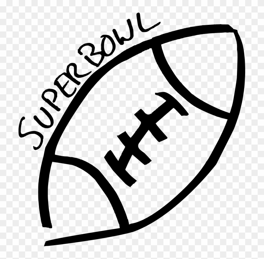Chic Idea Superbowl Clipart Football Sketch Cleaned Super Bowl Clipart Black And White Free Transparent Png Clipart Images Download