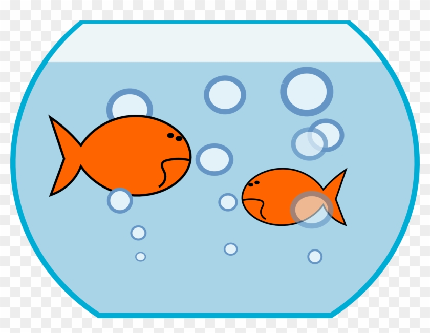 Fish Bowl Clipart Fish Pond Pencil And In Color Bowl - Fish In A Tank Clipart #173725