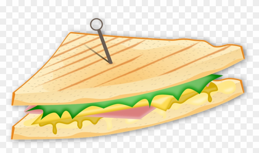Sandwich Bread Cheese Food Ham Fast Food S - Ham And Cheese Sandwich Clipart #173813
