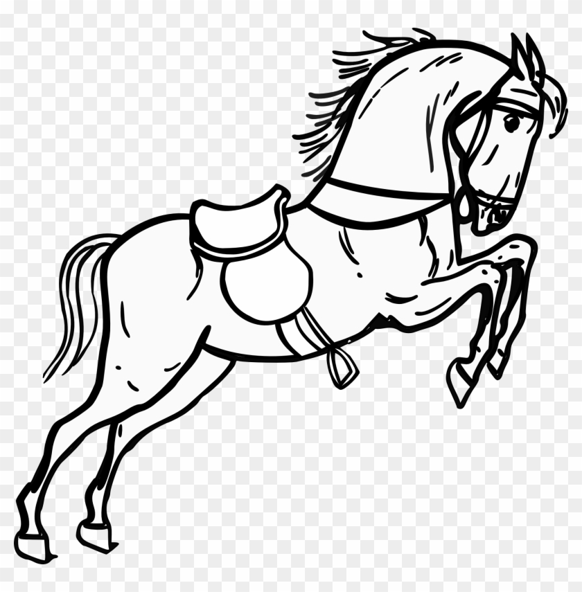 Pin Running Horse Clipart Black And White
