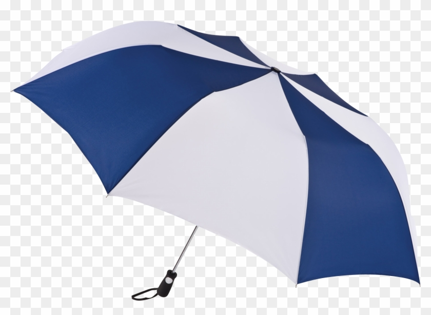 Navy/white Stratus Totes® Umbrella - Haas Jordan 58'' Folding Custom Golf Umbrella #952379