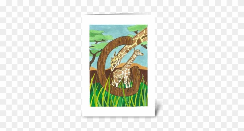 G For Giraffe Greeting Card - Indian Elephant #953343