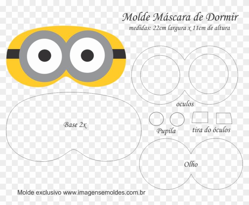 Molde Mascara De Dormir Minions 2 Olhos Molde Mascara Dos