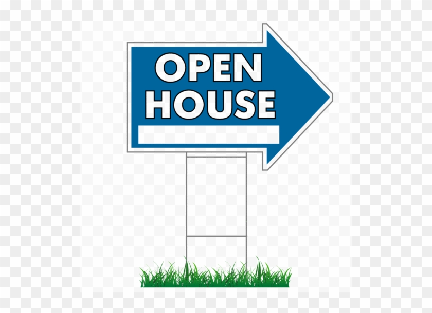 """17"""" X 23"""" Open House Directional Arrow Signs - Coldwell Banker Open House Signs #954488"""