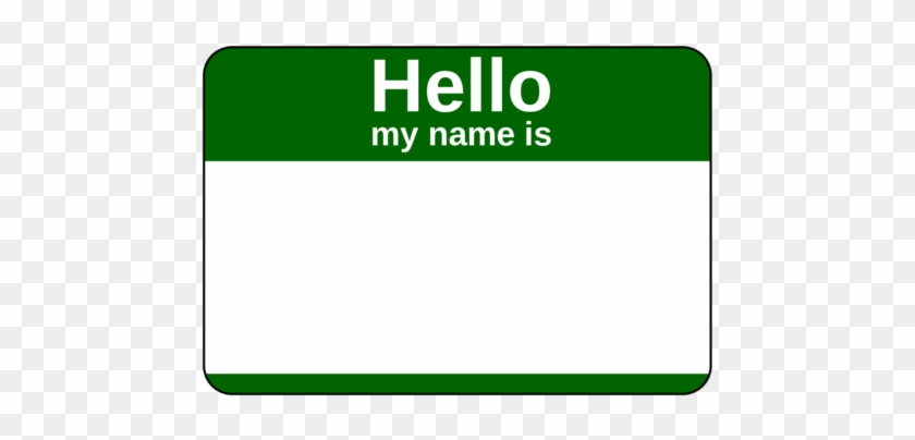 graphic about Free Printable Name Tags named 375\