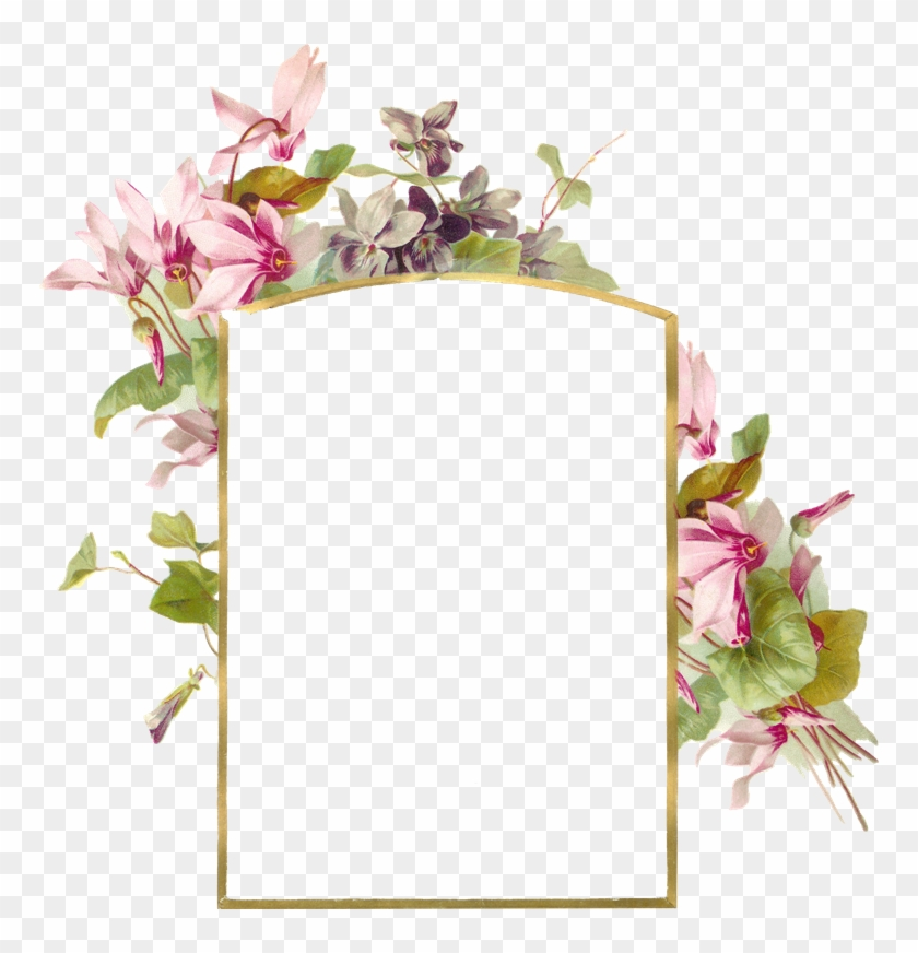 Frame With Pink Flowers - Flower Borders And Frames #955034