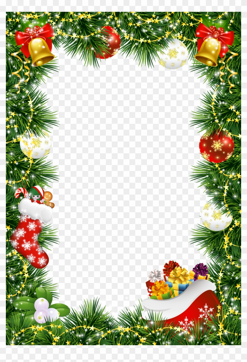 Christmas Photo Frame With Ornaments Gallery Marco De Navidad Png