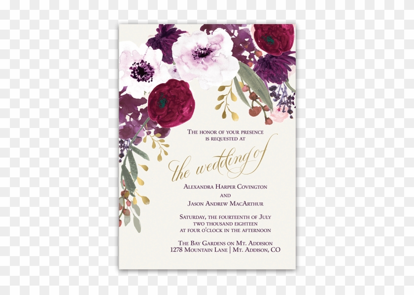 Flower Wedding Invitation Png #955059