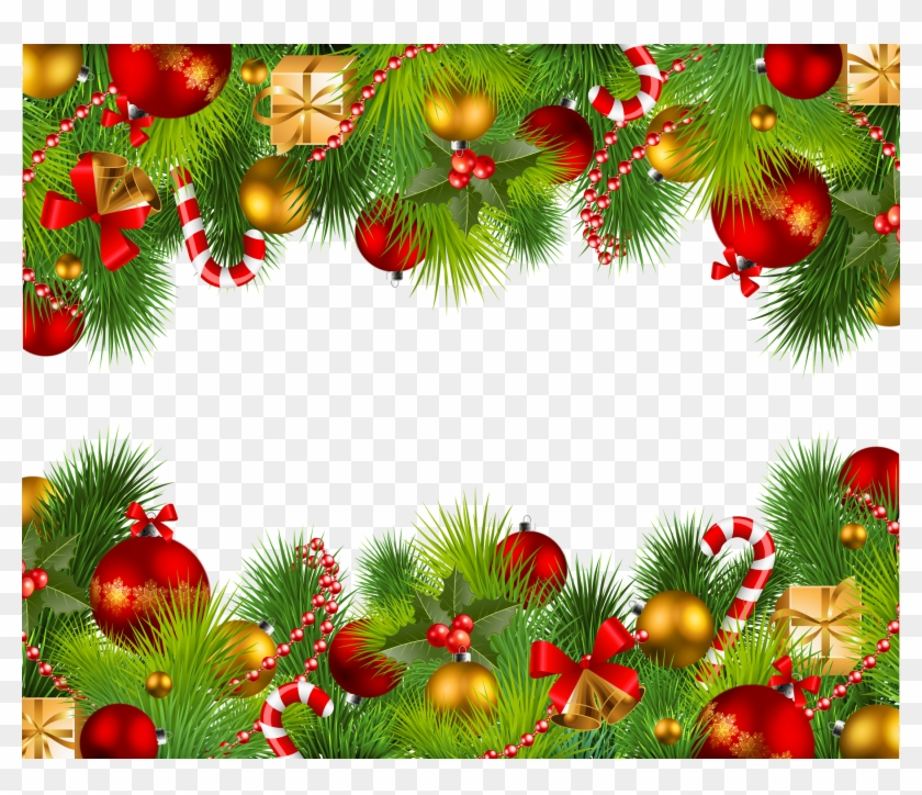 Red Christmas Frame Png Christmas Double Frame Transparent ...