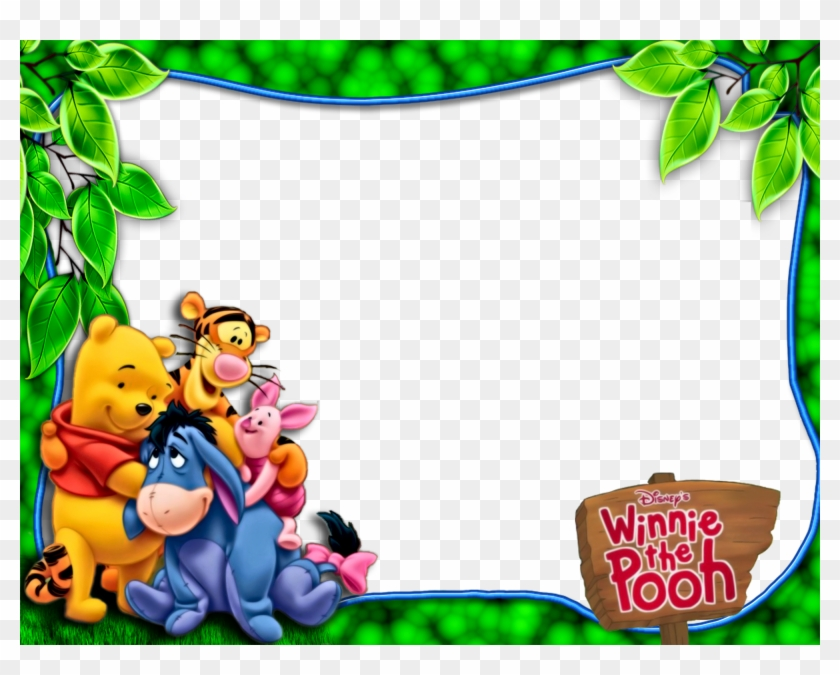 Pooh And Friends Png Green Kids Frame Winnie The Pooh Frames