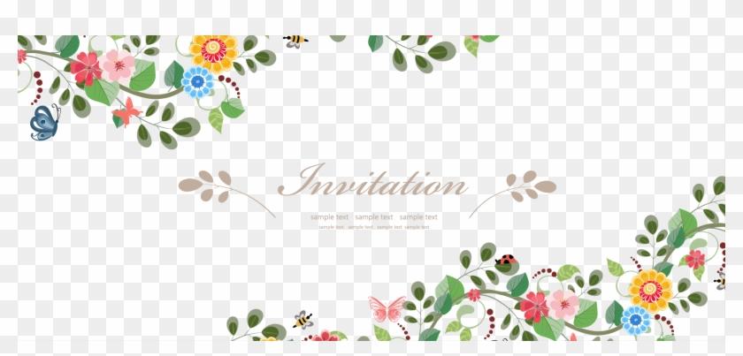 Wedding Invitation Flower Euclidean Vector Flower Border For