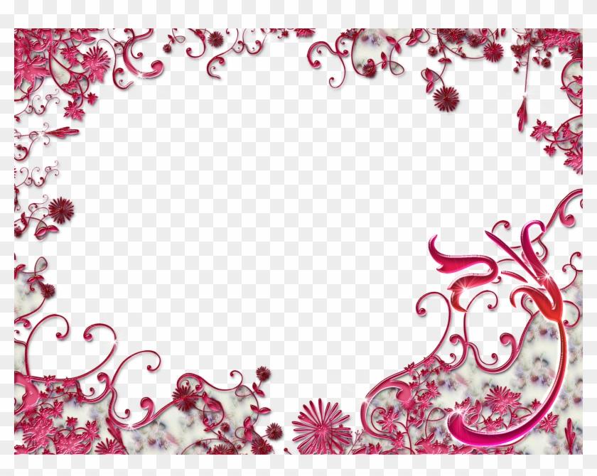 Wedding Bordure De Page Fleur Rouge Free Transparent Png Clipart