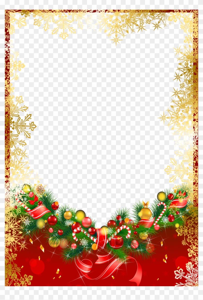Frame Png Border For Christmas - Christmas Frames And Borders Red #955238