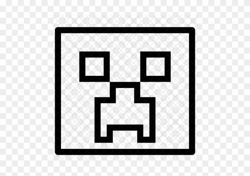 Minecraft Creeper Icon Minecraft Black And White Free Transparent Png Clipart Images Download