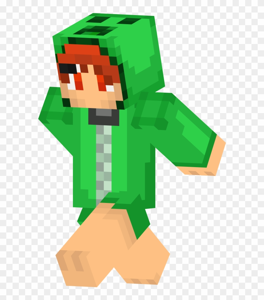 Minecraft Skin Girl Creeper Cool Free Transparent Png Clipart Images Download