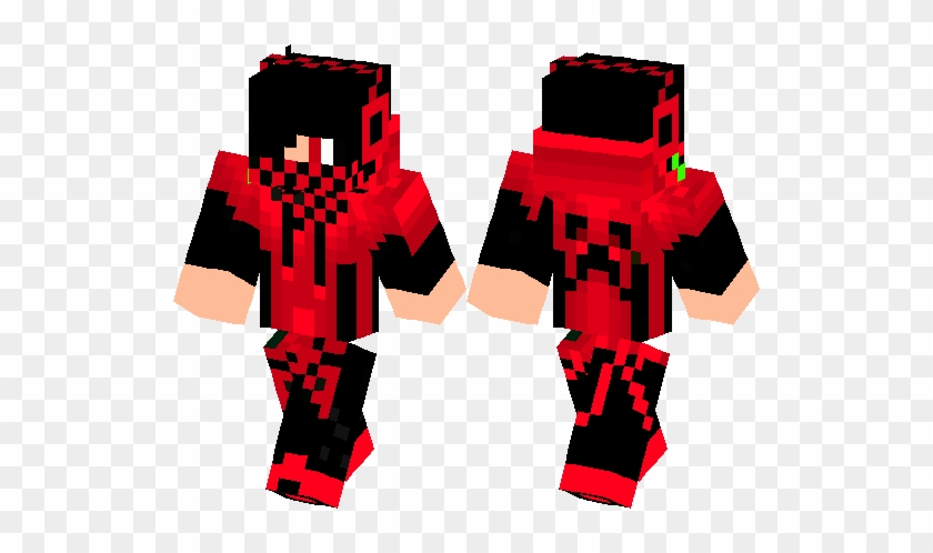 Minecraft Skin Red Creeper Boy Free Transparent Png Clipart Images Download