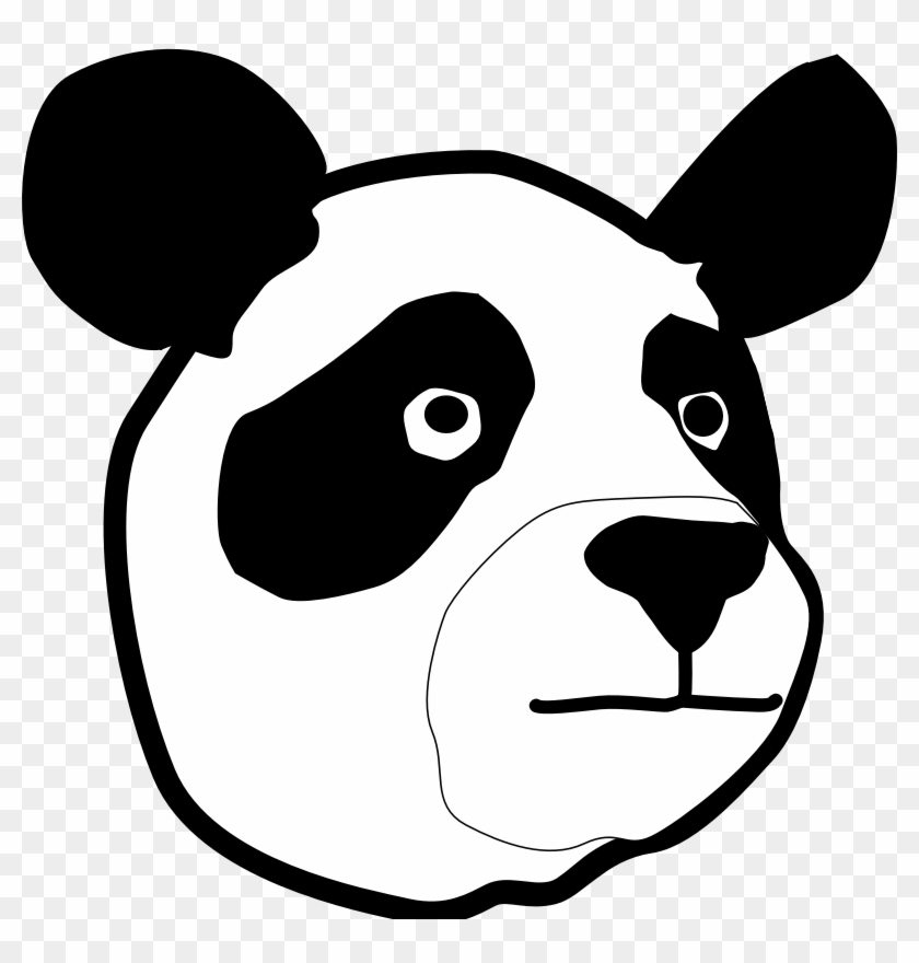 Clipart Library Face Images Pictures - Panda Bear Head #955551