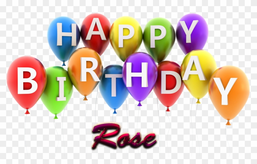 Rose Happy Birthday Balloons Name Png