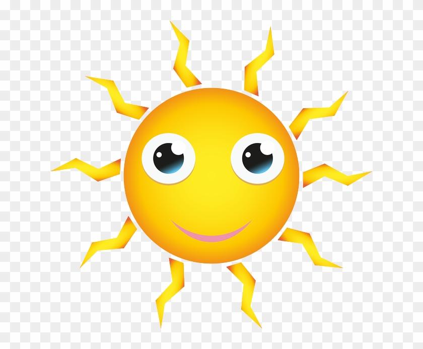 Yellow, Shining, Happy, Face, Eyes - Big Sun Cartoon #956664