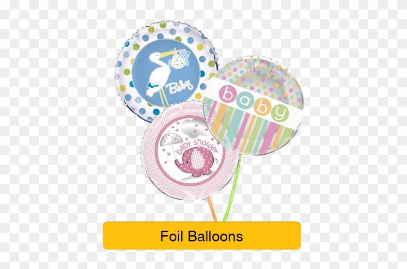 "Baby Shower Decorations For Girl - 18"" Foil Stork Boy Baby Shower Helium Balloon #956893"