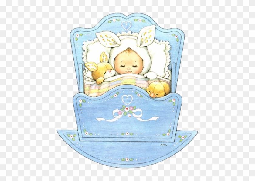 Sleeping Baby In Cradle - Ruth Morehead Baby #956931