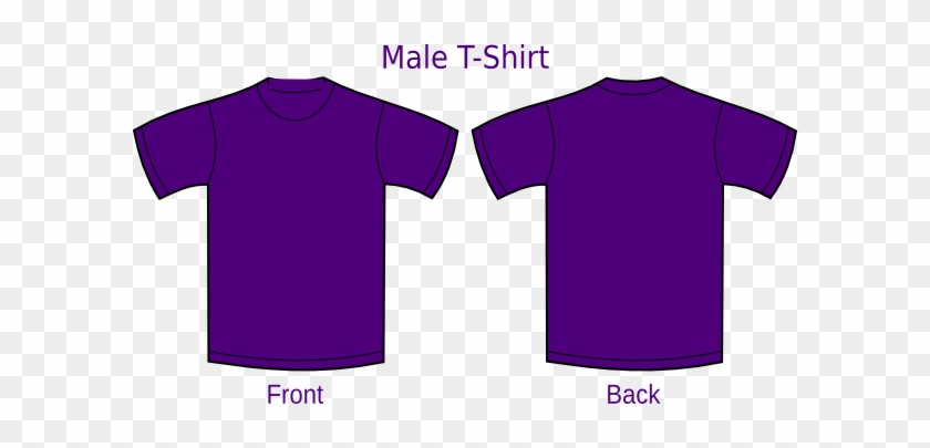 Purple Shirt Clip Art At Clker - Tshirt Front And Back #957572