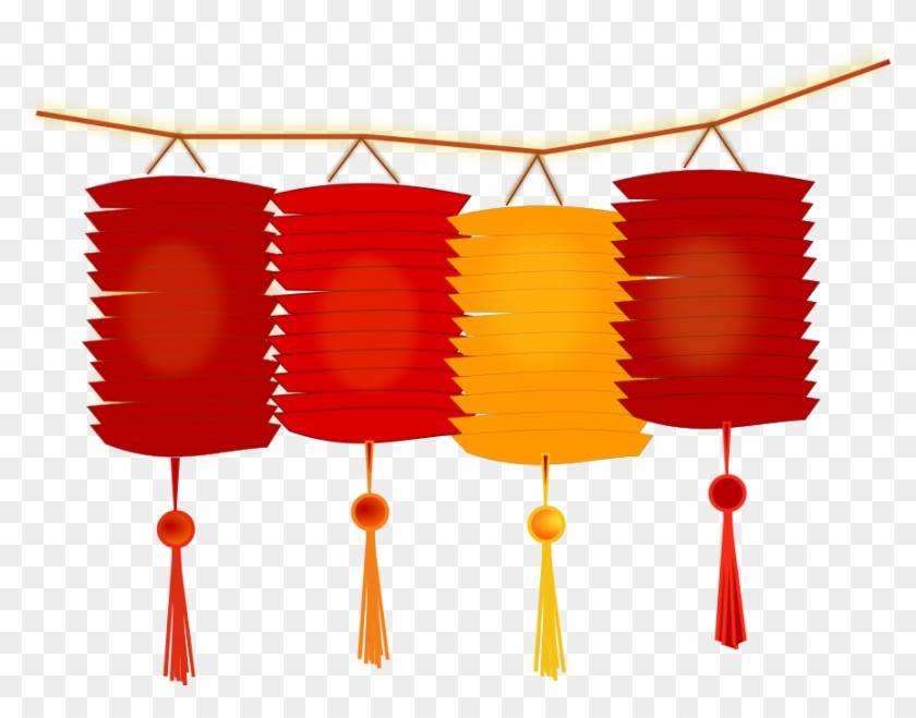 Chinese Lantern Clipart, Vector Clip Art Online, Royalty - Happy Chinese New Year Png #957607