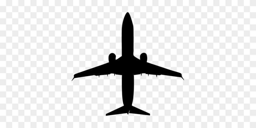 Airplane Fly Jet Silhouette Transportation Black And White Plane