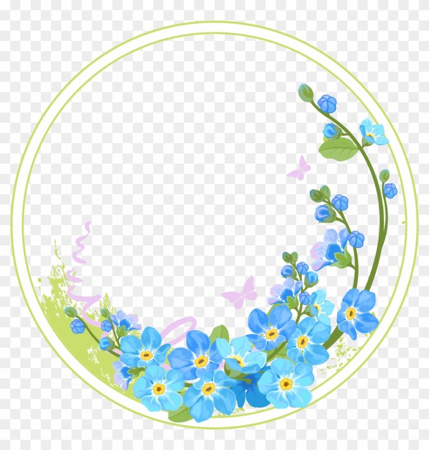 Circle Flower Frame Vector