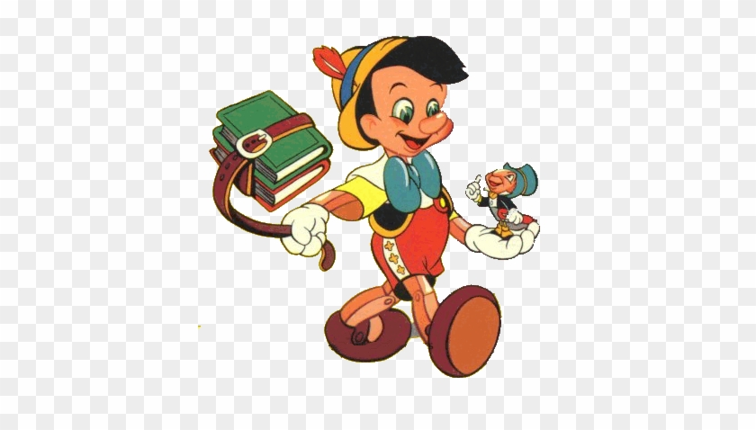 Pinocchio Clipart Animated - Pinocho En La Escuela #958545