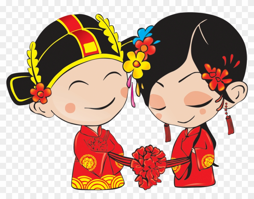 Chinese Marriage Download - Chinese Wedding Cartoon #958567